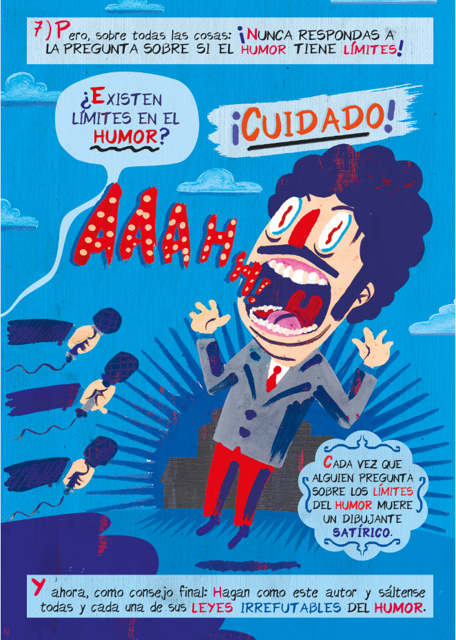 Viñeta de 'Disparen al humorista' / Darío Adanti -Astiberri