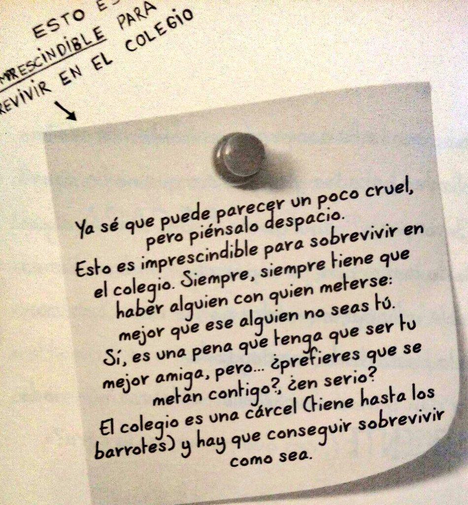 Una de las páginas difundidas de '75 consejos para sobrevivir en el colegio'